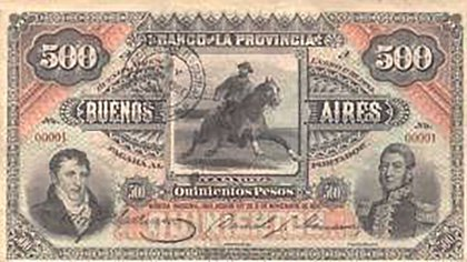 La envidia de los coleccionistas: San Martín y Belgrano compartiendo el anverso del billete de 500 pesos oro