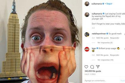 """Macaulay ganó un Globo de Oro y una fortuna con sus dos películas de """"Mi pobre angelito"""", aunque la ayudó a superar algunos momentos difíciles (Captura de pantalla: Instagram @culkamania)"""