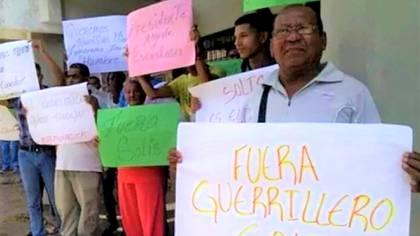 Protestas contra el comandante Solís