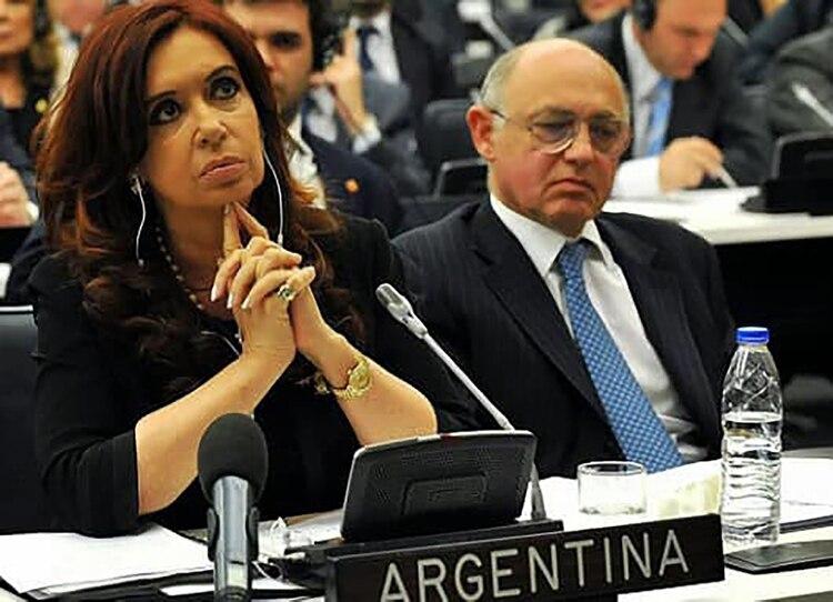 Cristina Kichner junto a su canciller, el fallecido Héctor Timerman