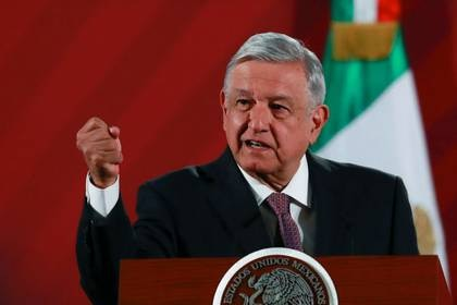 Mexico's President Andres Manuel Lopez Obrador speaks during a news conference at the National Palace in Mexico City, Mexico, March 9, 2020. REUTERS/Henry Romero