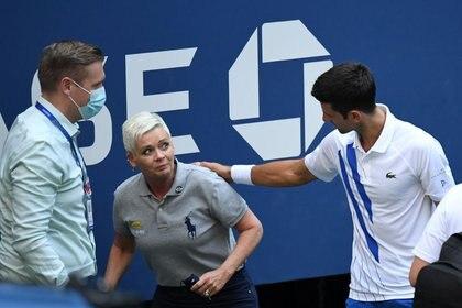 El domingo Djokovic se despidió del US Open tras el pelotazo a la jueza de línea (USA TODAY Sports)
