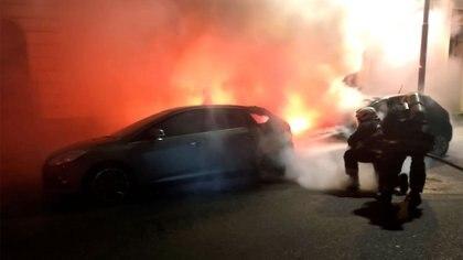El incendio sobre la calla San Luis al 3300