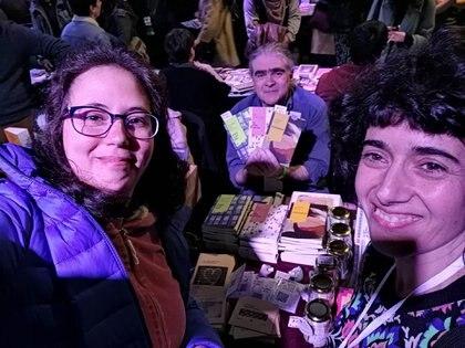 Los tres autores de la nueva colección presentes en la Feria de Editores