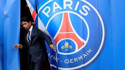 Nasser al Khelaifi, el presidente del Paris Saint-Germain