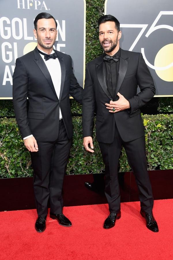 Ricky Martin y Jwan Yosef (AFP)