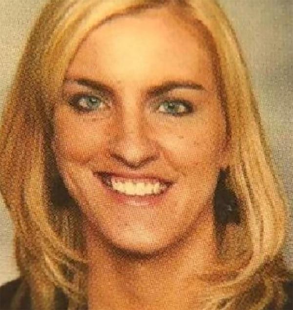 La foto de Jessica Langford que figuraba en el Miamisburg Middle School, donde era maestra de matemáticas