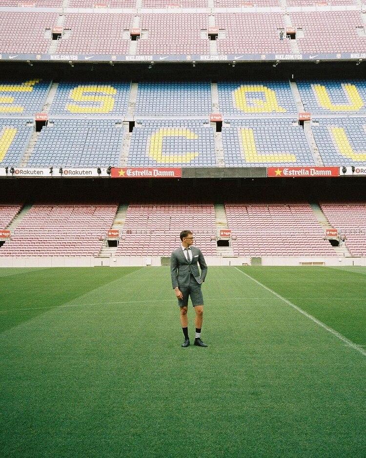 La marca Thom Browne vestirá al Barcelona (Instagram   thombrowneny) b2ab8fdeb1b