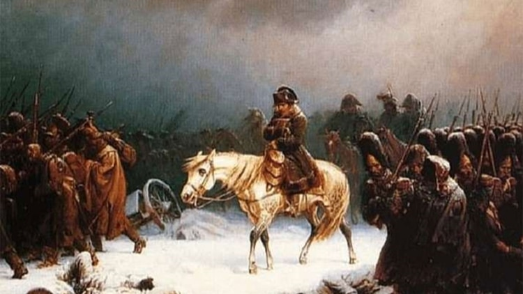 Derrota de Napoleón en Rusia.