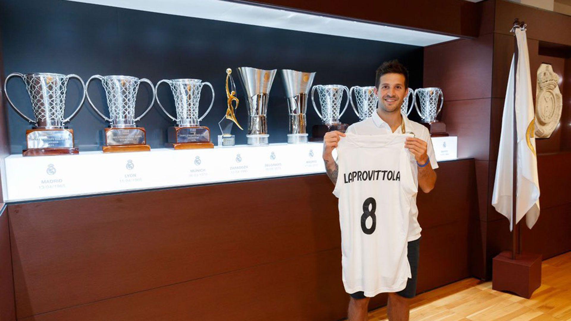Nicolás Lprovittola, nuevo jugador del Real Madrid, el campeón del básquet español (@RealMadrid)
