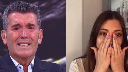 """Miguel Ángel Cherutti lloró de emoción al ser sorprendido por una videollamada de su hija desde España: """"Te extraño horrores"""""""