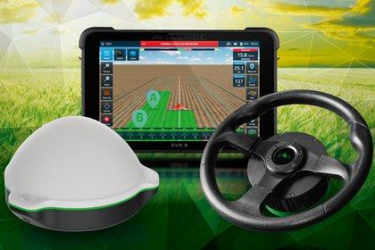 Los tractores automáticos están equipados con un sistema de autoguiado GPS que automatiza el manejo del volante