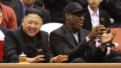 Dennis Rodman es confeso admirador del dictador norcoreano Kim Jong-un (AP)