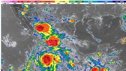 Se espera que se convierta en un huracán de categoría 4 antes del mediodía de este martes (Foto: SMN)