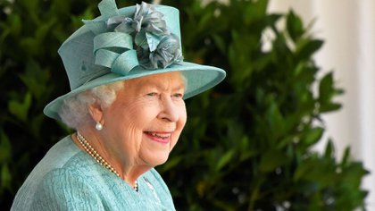 Reina Isabel. (Photo by TOBY MELVILLE / POOL / AFP)