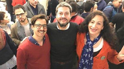 Matías Lammens junto con Ezequiel Rabines, precandidato a legislador de La Cámpora
