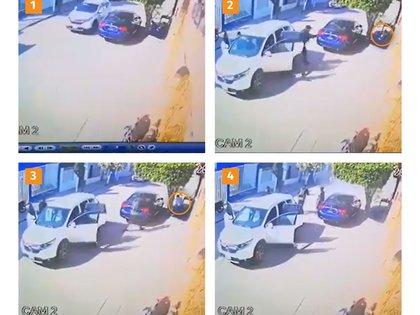 """1. Los sicarios llegaron abordo de una camioneta       2. Portando armas largas, interceptaron al """"Wualo"""" y a poca distancia le dispararon.  3. El cuerpo del Wualo quedó tendido en el pavimento 4. Los agresores huyeron, pero poco después dos de ellos fueron abatidos y uno más resultó herido."""