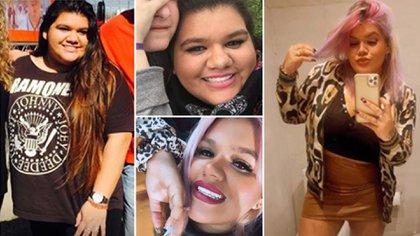 Algunas de las fotos que eligió Morena Rial para compartir en su posteo de Instagram