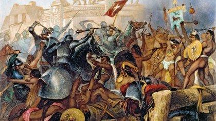 Los españoles y sus aliados perdieron hombres, artillería y tesoros