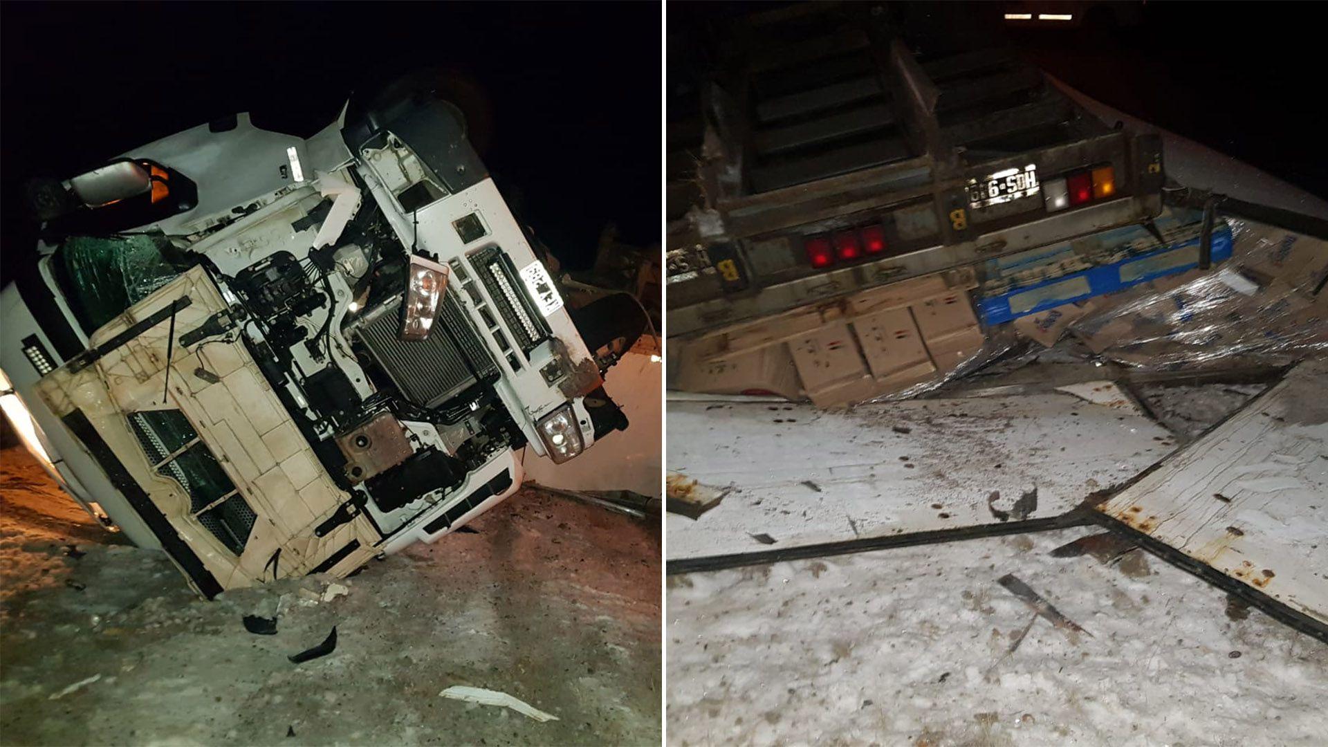 camionero que volcó