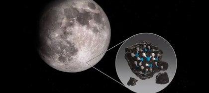 La NASA confirmó que hay más agua en la Luna de la que se creía (NASA)