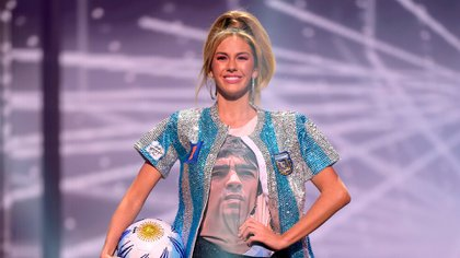 """La argentina que participa de Miss Universo homenajeó a Maradona en pleno certamen: """"No somos quién para juzgar tu vida personal"""""""