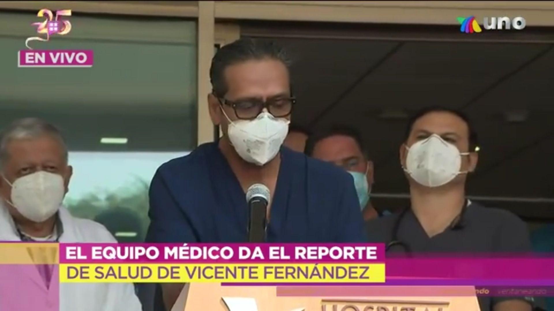 Vicente Fernández parte medico