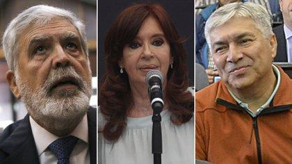 Julio De Vido, Cristina Kirchner y Lázaro Báez