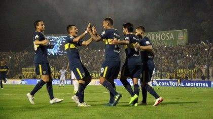 Edwin Cardona y Wilmar Barrios, dos de los jugadores actuales de Boca que destacó Juan A. Farenga (h)(Télam)