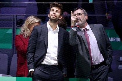 El futbolista Gerard Piqué asistió a la Copa Davis como organizador (REUTERS)