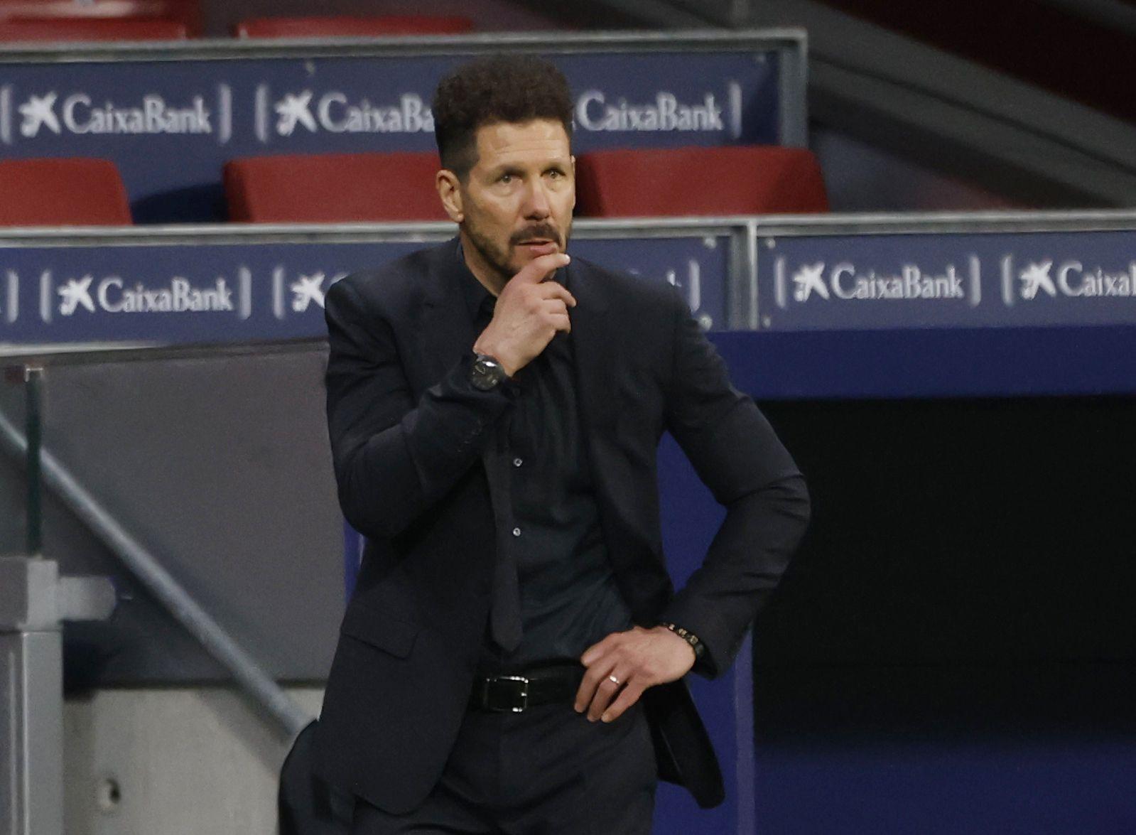 Diego Simeone se convirtió en el DT con más triunfos en el Atlético Madrid (REUTERS/Juan Medina).