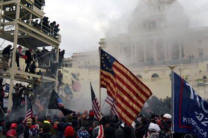 Foto de los disturbios en el Capitolio. REUTERS/Stephanie Keith