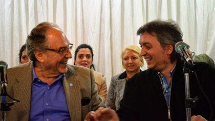 Los diputados Carlos Heller y Máximo Kirchner