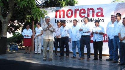 Durante sus años al frente de Morena, López Obrador protestó a favor de tarifas de luz justas para los tabasqueños (Foto: lopezobrador.org)