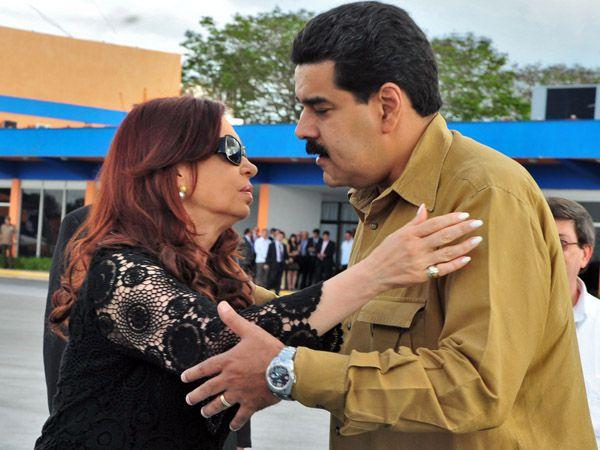 Cristina Kirchner y Nicolás Maduro en Cuba