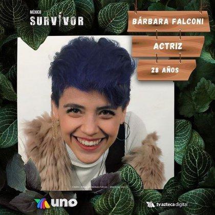 This actress got individual immunity within the Halcones tribe (Photo: Instagram screenshotsurvivormexico)