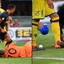 Choque Ronaldo arquero Chievo Verona, agosto 2018
