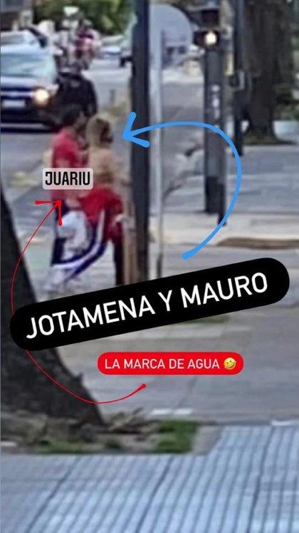 Jimena Barón y Mauro Caiazza (Foto: Instagram /@juariu)