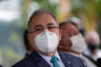 El cardiólogo Marcelo Queiroga, quien fue nombrado como nuevo ministro de Salud, habla en la sede del ministerio en Brasilia, Brasil. Marzo 16, 2021. REUTERS/Ueslei Marcelino