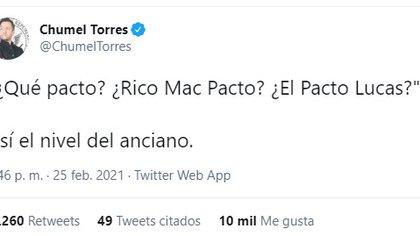 "Así criticó Chumel a AMLO por no saber del ""pacto patriarcal"" (Foto: captura de pantalla)"