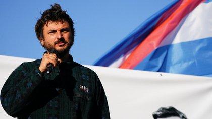 El dirigente del Frente Patria Grande, Juan Grabois. (Franco Fafasuli)