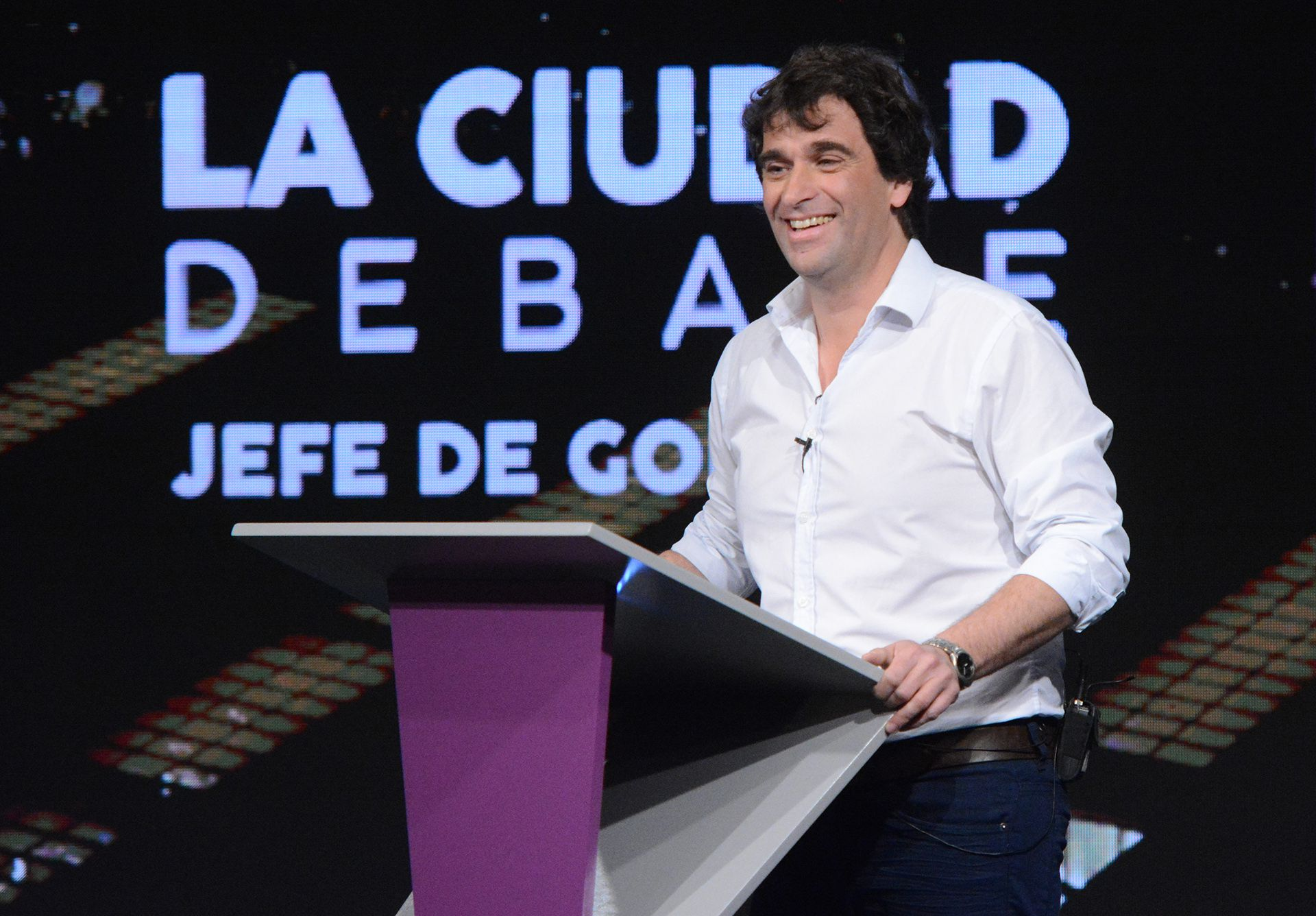 El candidato del Frente de Izquierda, Gabriel Solano