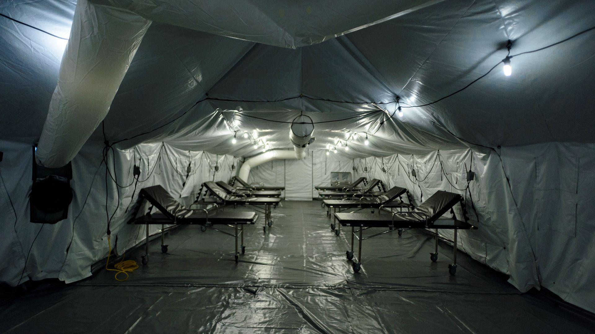 Hospital de campaña donado por USA por dentro