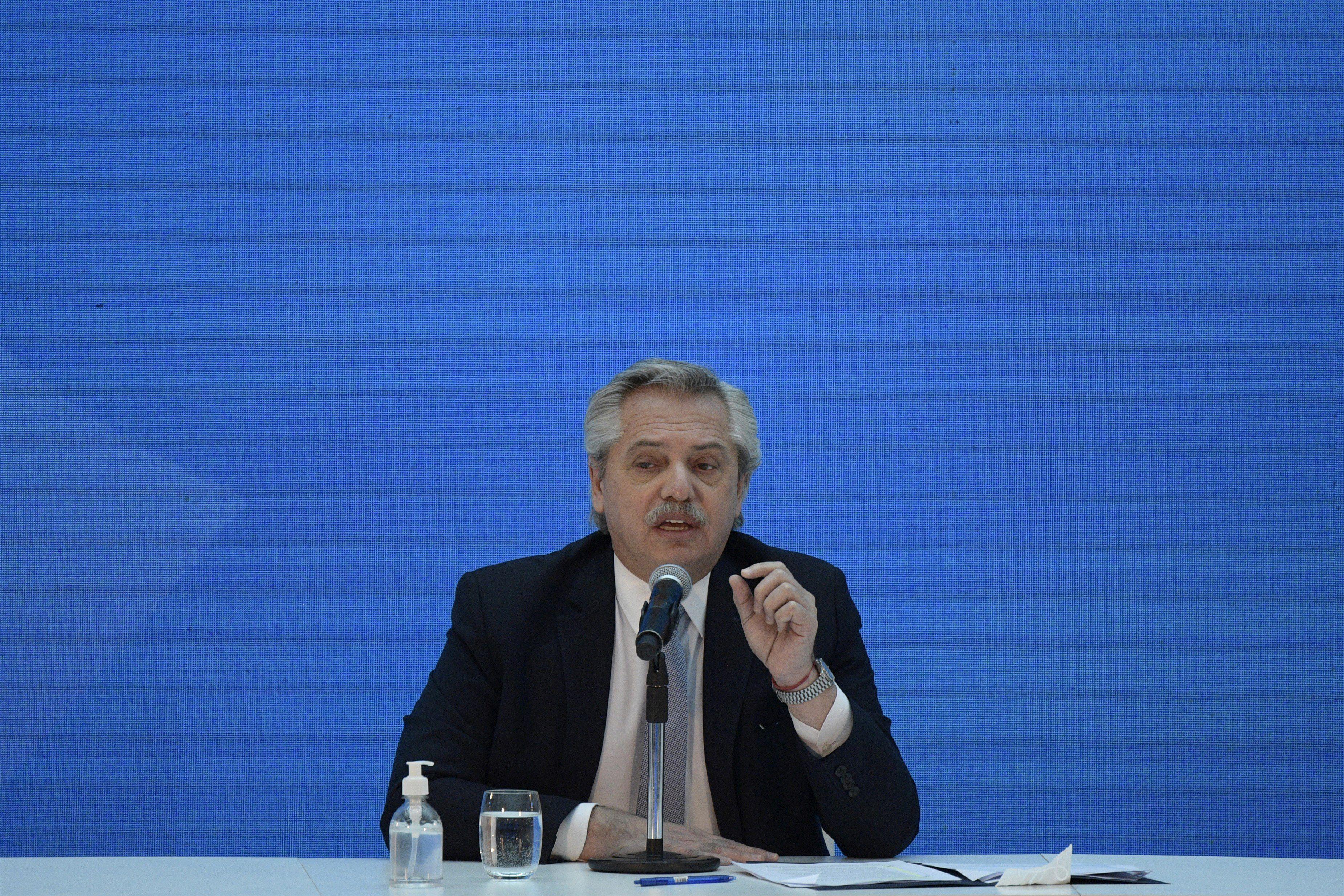 Alberto Fernández hizo alusión a la importancia de la unidad dentro del peronismo ( 2020 POOL / POOL)