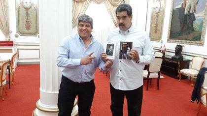 El sindicalista Pablo Moyano junto a Nicolás Maduro