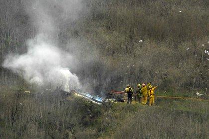 El lugar de la caída del helicóptero accidentado en el que falleció la ex estrella de la NBA Kobe Bryant (26 de enero)