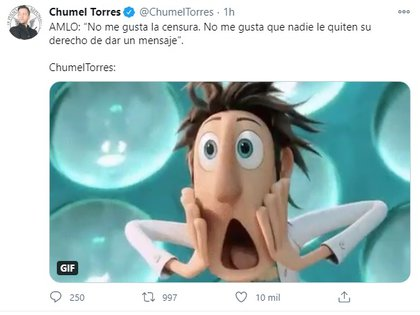 Y así reaccionó Chumel Torres