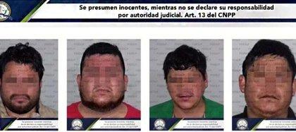 Un par de días después del crimen fueron asegurados cuatro supuestos autores materiales (Foto: Fiscalía del Estado de Jalisco)