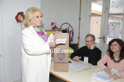 Votando, en las elecciones legislativas de octubre del año pasado (Christian Bochichio)