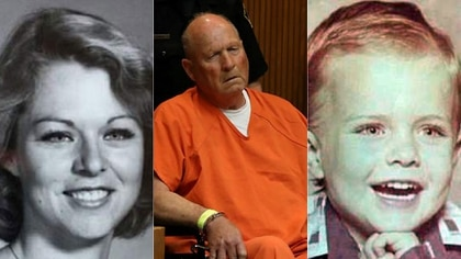 """Rhonda Wicht, Joseph DeAngelo en el juzgado y el pequeño Donald. Finalmente, el ADN con las muestras de la escena del crimen no coincidieron con el sospechoso. ¿Será DeAngelo el """"Golden State Killer""""?"""